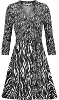 Diane von Furstenberg Amelia Printed Jersey And Cotton And Silk-Blend Wrap Dress