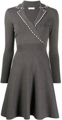 Sandro Paris Long-Sleeve Flared Mini Dress