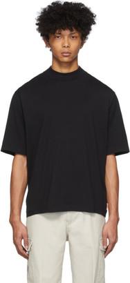 Acne Studios Black Mock Neck T-Shirt