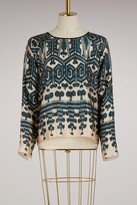 Forte Forte Silk Ikat print top