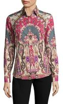 Etro Paisley-Print Cotton Top