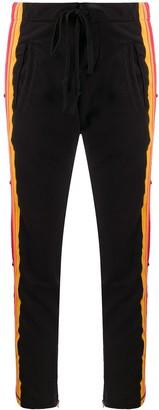 Greg Lauren striped straight-leg trackpants
