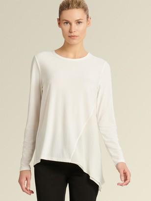 DKNY Long-sleeve Asymmetrical Top