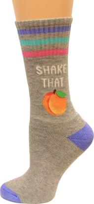 Hot Sox Women's Shake That Peach Crew Socks