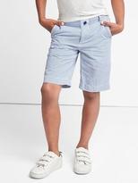 Gap Seersucker flat front shorts