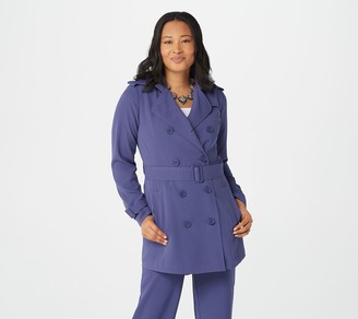Linea by Louis Dell'Olio Gauze Crepe Trench Coat Unlined