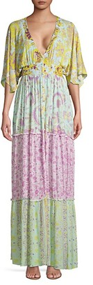 HEMANT AND NANDITA Multi Floral-Print Maxi Dress