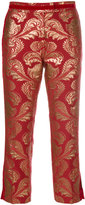 Christian Pellizzari baroque print cropped trousers