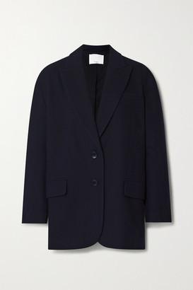 Tibi Liam Oversized Wool-blend Felt Blazer - Navy