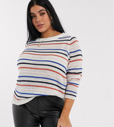 Junarose stripe sweater in multi