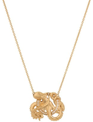 Stephen Webster Yellow Gold and Diamond Fish Tales O Necklace