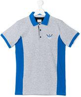 Armani Junior logo print polo shirt - kids - Cotton - 14 yrs