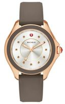 Michele Cape Smokey Quartz, Rose Goldtone Stainless Steel & Silicone Strap Watch/Taupe