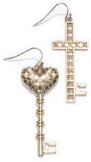 Rachel Roy Cross Heart Drop Earring