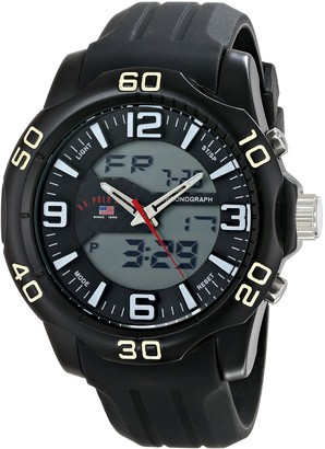 U.S. Polo Assn. Sport Men's US9472 Analog-Digital Display Analog Quartz Black Watch
