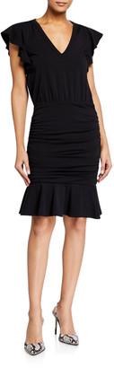 Veronica Beard Jeans Lisette V-Neck Dress