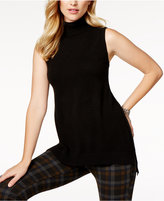 Charter Club Cashmere Sleeveless Turtleneck Sweater, Created for Macy's
