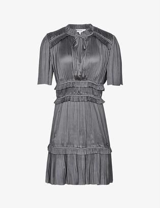 Reiss Lydia pleated crepe mini dress