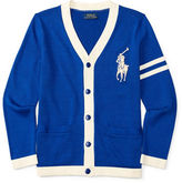 Ralph Lauren Boys 2-7 Varsity-Striped Cardigan