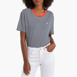 Tommy Jeans Cotton Striped Crop T-Shirt