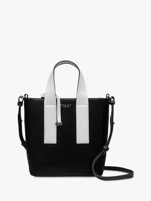 Radley Fetter Lane Small Leather Zip Top Multiway Bag, Black