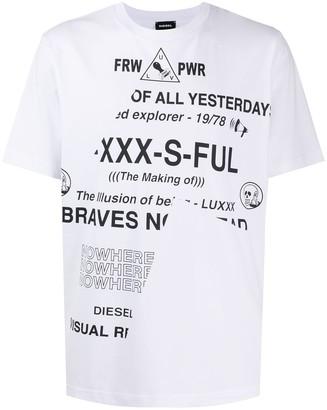 Diesel Raver print short-sleeve T-shirt