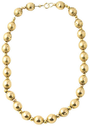 One Kings Lane Vintage Victorian 14K Gold Ball Necklace - Owl's Roost Antiques