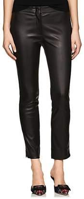 Derek Lam Women's Drake Leather Crop Pants - Black