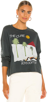 Daydreamer The Cure Boys Don't Cry Oversized Long Sleeve Crop Tee