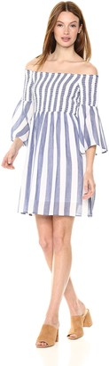 Lucky Brand Women's Striped Smocked Dress