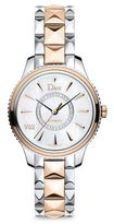 Christian Dior VIII Montaigne Diamond, 18K Rose Gold & Stainless Steel Automatic Bracelet Watch