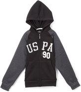 U.S. Polo Assn. Black & Gray 'USPA' Zip-Up Raglan Hoodie - Boys