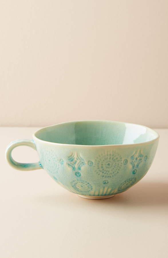 Anthropologie Old Havana Stoneware Mug