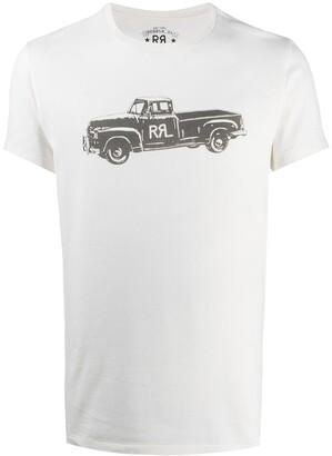 Ralph Lauren RRL short-sleeved truck print T-shirt
