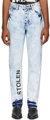 Stolen Girlfriends Club Blue Acid Stamp Jeans