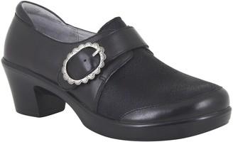 Alegria Leather Hook-and-Loop Strap Heels - Holli