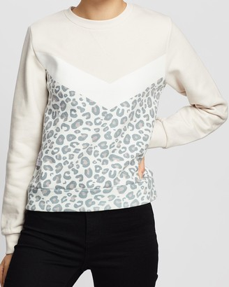 All About Eve Amina Leopard Crew Sweater