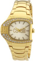 Just Cavalli Women's R7253160501 Logo Gold Stainless Steel Band Watch.