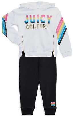 Juicy Couture Little Girl's 2-Piece Cotton-Blend Hoodie Pants Set