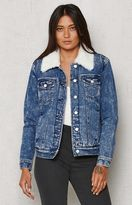 PacSun Sherpa Lined Denim Jacket