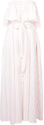 Lemlem Aweke strapless maxi dress