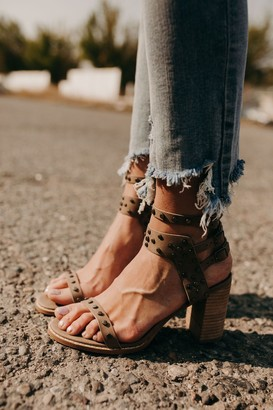 Celeste Studded Heels - Taupe