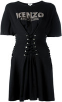 Kenzo corseted fit and flare dress