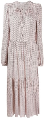 Philosophy di Lorenzo Serafini Polka-Dot Print Tiered Dress