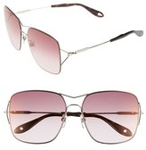 Givenchy Women's 58Mm Sunglasses - Light Gold