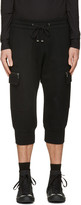 Helmut Lang Black Cropped Cargo Pants