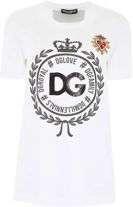 Dolce & Gabbana Printed T-shirt With Embroidery