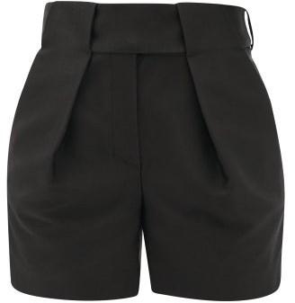 Alexandre Vauthier Tailored Grain-de-poudre Cotton-blend Shorts - Black