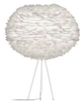 EOS Umage UMAGE - Large White Feather White Tripod Table Lamp - White