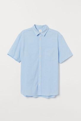 H&M Regular Fit Linen-blend Shirt